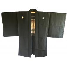 Man antique Haori kimono jacket Maruni Takano Hane Montsuki Yama No Jinja