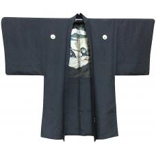 """Man's Meoto iwa Ise Maruni Dakimyoga Haori kimono jacket Montsuki """"Made in Japan"""""""